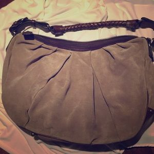Banana Republic suede and leather purse